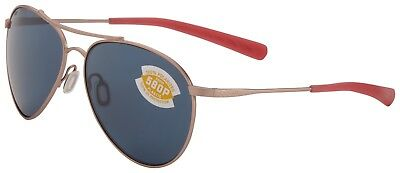 Costa Del Mar Piper Sunglasses PIP-184-OGP Rose Frame 580P Grey Polarized Lens