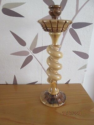 Lovely wood turned candlestick
