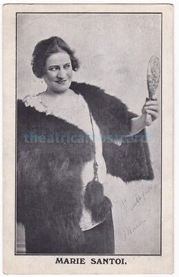 Music hall and pantomime entertainer Marie Santoi. Signed postcard