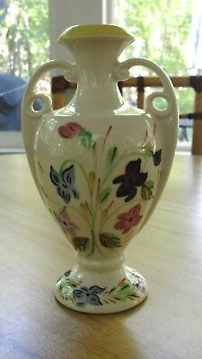 Blue Ridge China Hand Painted Southern Potteries Dogtooth Vase Floral Violets