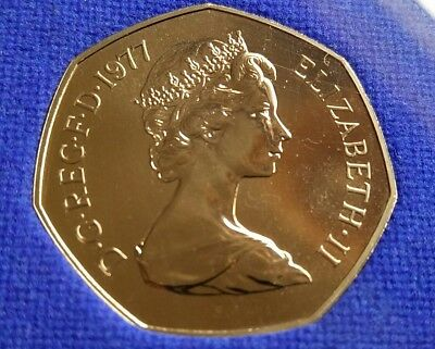 1977 PROOF FIFTY PENCE PIECE  Proof 50P COIN FREE POSTAGE AND RETURNS