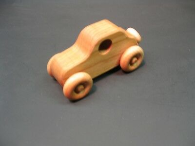 H316-2 Cherry Old Style Coupe, Wood Toy Car, Wooden Car, Handmade, Handcrafted
