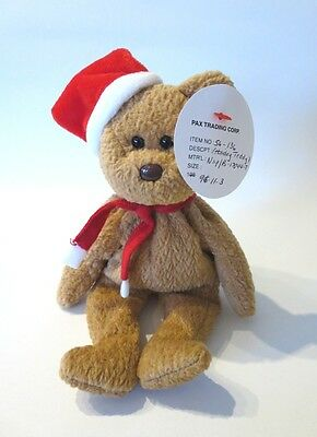 ULTRA RARE PAX PROTOTYPE 97 Holiday Teddy TY Beanie Baby AUTHENTICATED MWMT MQ!