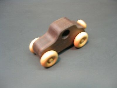 H317-1 Walnut Old Style Coupe, Wood Toy Car, Wooden Car, Handmade, Handcrafted