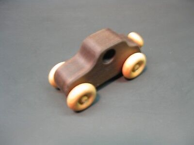 H317-2 Walnut Old Style Coupe, Wood Toy Car, Wooden Car, Handmade, Handcrafted