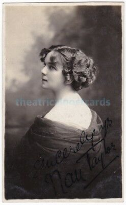Stage actress and singer Nan Taylor. Signed postcard