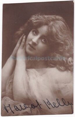 Stage and early film actress Margot Kelly. Signed postcard