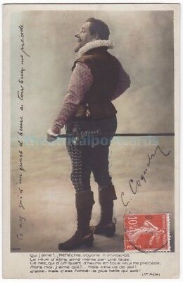 French stage actor Benoît-Constant Coquelin. Cyrano de Bergerac. Signed postcard