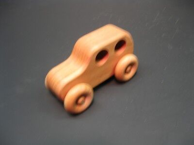 H306-1 Cherry Classic Car, Wood Toy Car, Wooden Toy Car, Handmade, Handcrafted