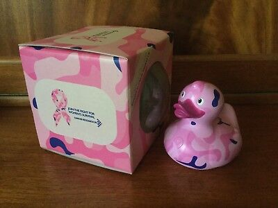 BUD Collectable Rubber Duck for Cancer Research CAMO (2009) retired, rare.