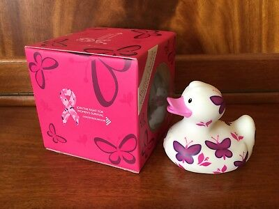 BUD Collectable Rubber Duck for Cancer Research FLUTTER (2009) retired, rare.