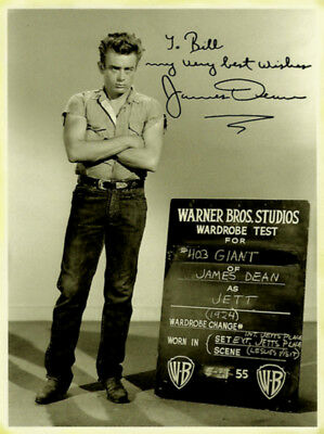 James Dean Original Signed Photo Autograph Autogramm Signiert Foto Portrait