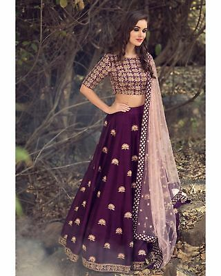 Latest Lehenga Indian Wedding Reception Lengha Choli Ghagra Blouse