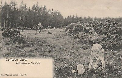 Graves Of The Clans, Culloden MoorPosted 1909 Inverness-shire B&W Wrench Series