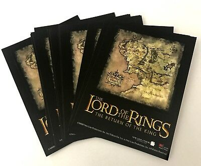 The Lord Of The Rings Movie Sticker Vintage Rare License Old Stock Lot Of 11 NEW