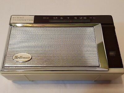 Hoffman OP-708 Transistor Radio 1962 with Black leather case