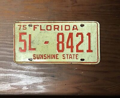 1975 Florida License Plate
