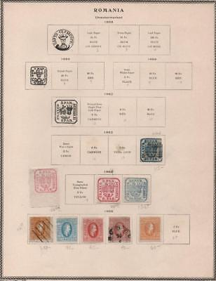 ROMANIA: 1862-1865 Examples - Ex-Old Time Collection - Album Page (18938)