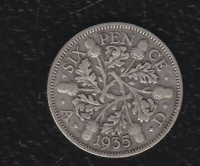 Great Britain 6 Pence 1935 Silver