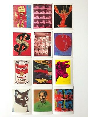 andy warhol stars and legends a portfolio of 36 works postcards