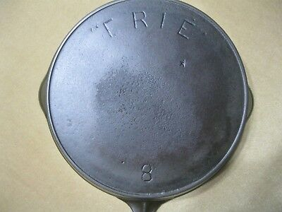 """""""erie""""  Griswold #8 Cast Iron Skillet   With Star"""