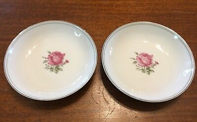 2 Fine China Of Japan Fruit/Dessert Bowls In The Imperial Rose #6702 Pattern