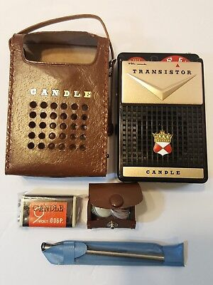 Candle Boy's Radio TR2 Black with accessories 1962 - Excellent