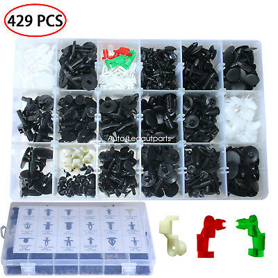 429 Pcs Panel Clip Plastic Rivets Fasteners Kit 20 Most Popular Sizes For GM