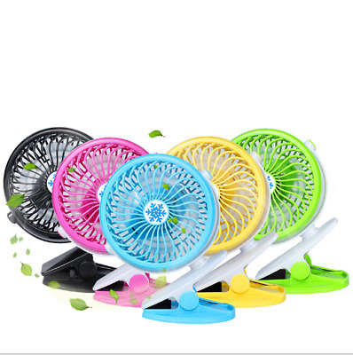 Mini Hand-held Portable Fan Rechargeable Battery Oscillating Clip On Stroller