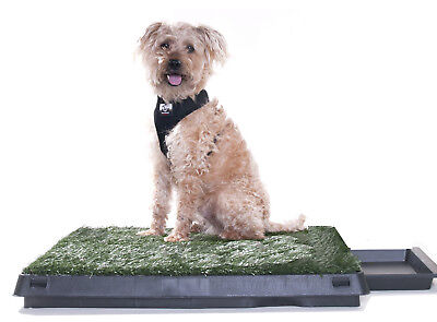 Pet Dog Pee Turf Grass Bathroom Relief Tinkle Toilet Potty Pad System w/ Drawer