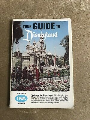 "Vintage ""Your Guide To Disneyland""  Presented By Ina 1967"