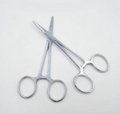 """New 5"""" Fishing Stainless Steel Straight Hemostat Forceps Locking Clamps"""