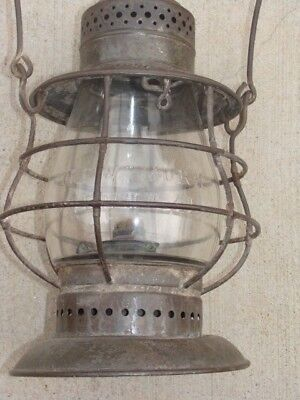 NEW YORK CENTRAL BELL BOTTOM RAILROAD LANTERN DIETZ No 6 TALL EMBOSSED NYC GLOBE