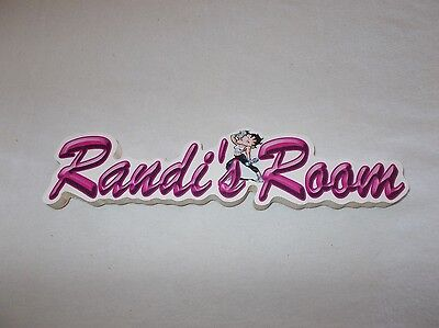 Randi's Room Sign Wooden Betty Boop Themed Kids Decor Picture Perfect Workshop