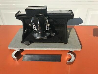 Lightly Used  American Optical Model 860 Microtome with Carry Case and Blade