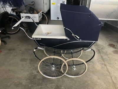 Vintage Silver Cross Baby Pram Buggy Stroller Made in England with 2 covers