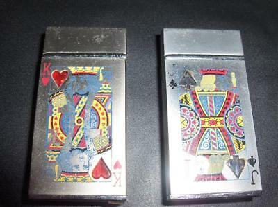 Vintage King Hearts Jack Spades Cigarette Casino Gambling Lighters