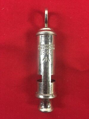 Ww2 Military Trench Police Whistle England  J. Hudson & Co. 1943 Wwii