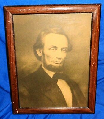 """Antique Abraham  Lincoln  Framed Print 10 1/2"""" x 13 1/2"""" Take a LOOK !!!"""