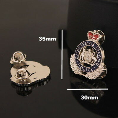 Christmas Island Police Badge Style Pin (social)