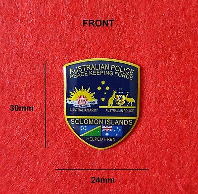 Australian Police Peace Keeping Force Solomon Islands Pin (social)
