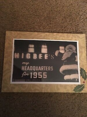Higbee's 1955 Santa Decoration Photo Greeting Christmas Card Cleveland Downtown