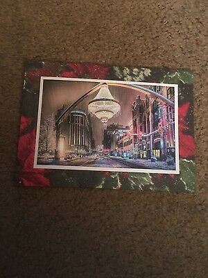 Cleveland OH Playhouse Square Photo Greeting Christmas Card Chandelier Snow