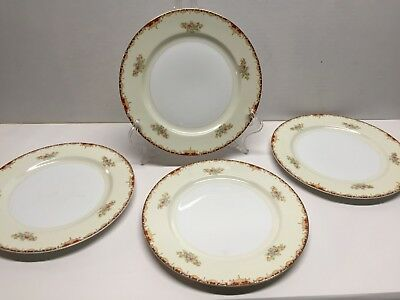 Meito China Hand Painted Dinner Plates Made in Japan Lot of 4