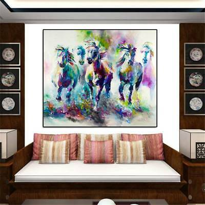 Frameless Huge  Art Hand-Painted Horse Oil Painting Home Decor Canvas Art Wall