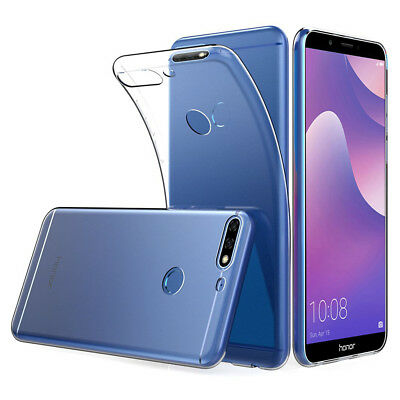"""Protective Case Ultraslim Silicone for [Huawei Y7 Prime (2018) 5.99 """"] TPU Super"""