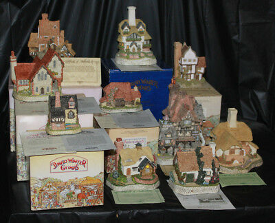 David Winter's Cottages Lot of 10 COA Original Boxes