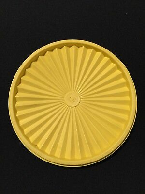 Yellow Vintage Tupperware  Canister Lid # 1205-17 Immaculate 8 1/4 Inches Wide