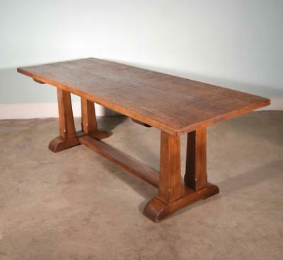 *Vintage French Farm/Dining/Library Table in Solid Oak Wood
