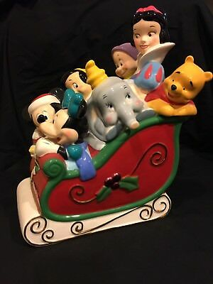Mickey And Friends Christmas Cookie Jar